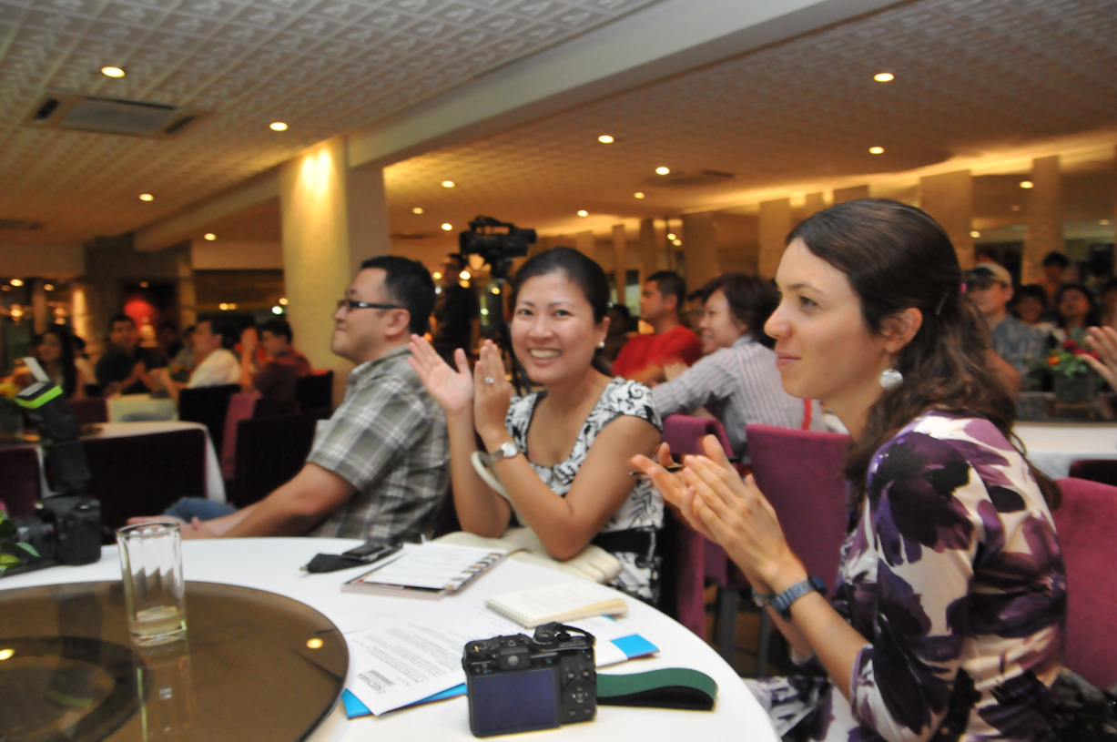Present at the launch were various members of the media like these writers from VisionKL